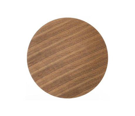 Ferm Living Wood panel for metal basket oak veneer, brown, Ø 40cm