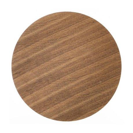 Ferm Living Holzplatte für Metall-Korb aus Eiche furnier, braun, Ø 50cm