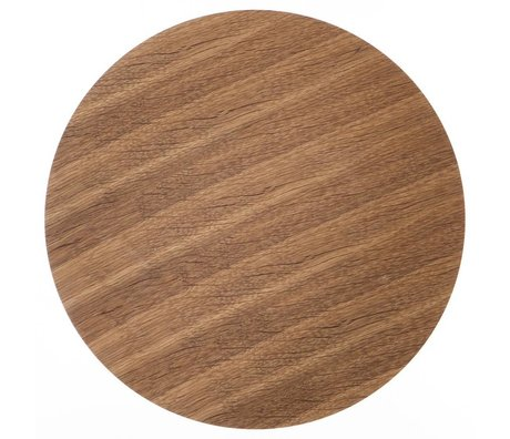 Ferm Living Wood panel for metal basket oak veneer, brown, Ø 60cm