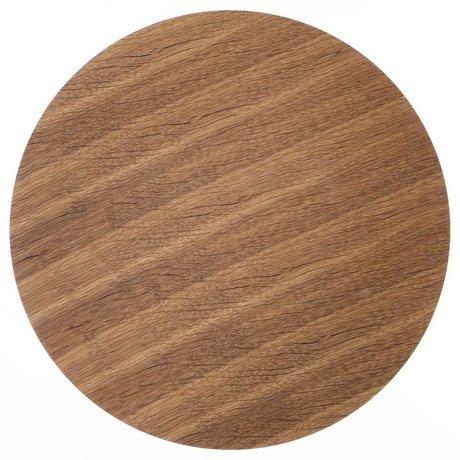 Ferm Living Pannello in legno per i prodotti in metallo impiallacciato rovere, marrone, Ø 60 centimetri