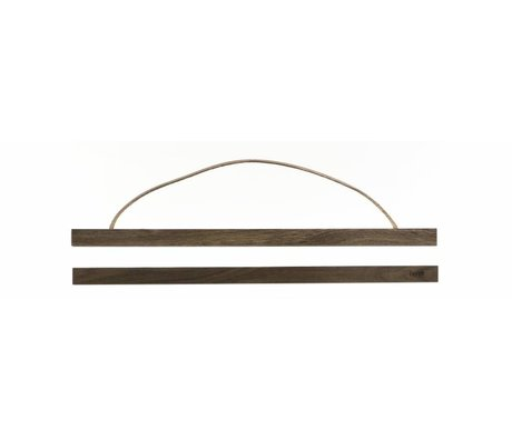 Ferm Living Aufhängesystem für Poster 'smoked oak` aus Holz, 51x2 cm