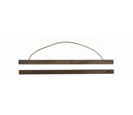"""Ferm Living Système de suspension pour l'affiche de """"fumé chêne` bois, 51x2 cm"""