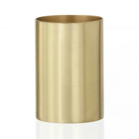 """Ferm Living Cup / pen holder """"BRASS CUP"""" brass Ø6x9cm"""
