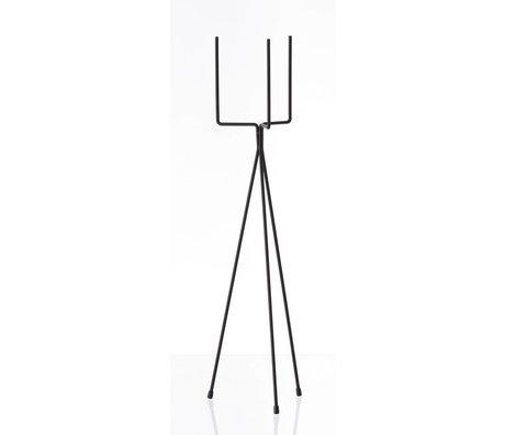 Ferm Living Vegetabilsk rack `plante stå STOR 'metal, sort, Ø15x65cm