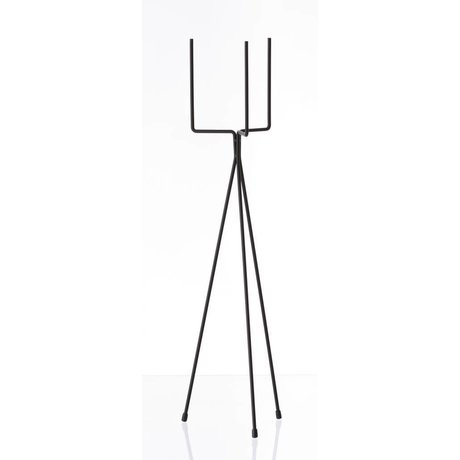 Ferm Living Vegetable rack `PLANT STAND LARGE 'metal, black, Ø15x65cm