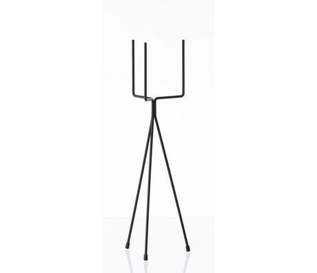 Ferm Living Verdura cremagliera `PIANTA supporto in metallo PICCOLO ', nero, Ø13x50cm