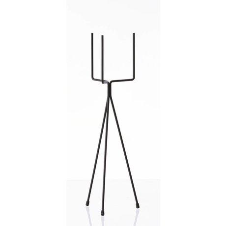 Ferm Living Verduras estante PLANTA `soporte de metal PEQUEÑO ', negro, Ø13x50cm
