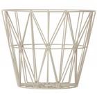 Ferm Living Korb aus Eisen mit Pulverbeschichtung in 3 Größen, grau, 40x35cm,50x40cm,60x45cm