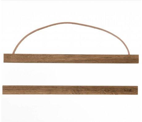 Ferm Living Aufhängesystem für Poster 'smoked oak` aus Holz, 31x2 cm
