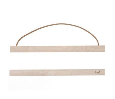 Ferm Living Aufhängesystem für Poster 'MAPLE WOOD` aus Holz, 31x2 cm