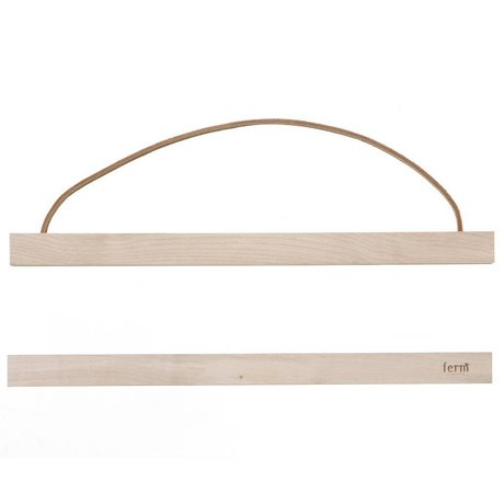 Ferm Living Sistema di sospensione per il poster 'MAPLEWOOD `di legno, 31x2 cm