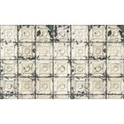 Merci Brooklyn Tins wallpaper, gray / cream Tin-01