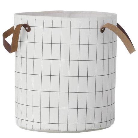 Ferm Living Basket griglia, nero / bianco, 35x40cm