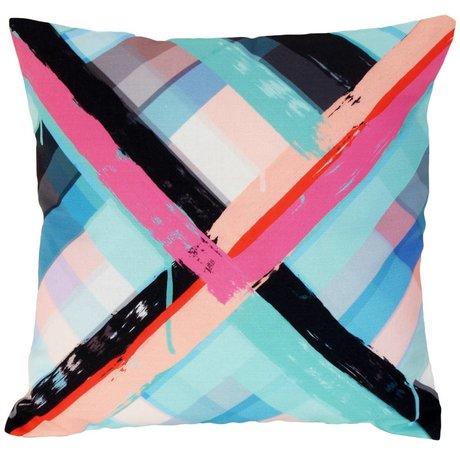 HK-living Cushion Brush pattern, 43x43cm