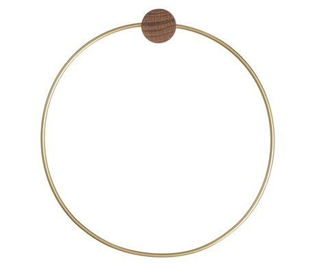 Ferm Living Brass towel ring, gold colored, Ø20,5cm