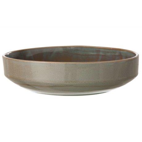 Ferm Living Nouveau bol en grès, gris, Ø27x7cm