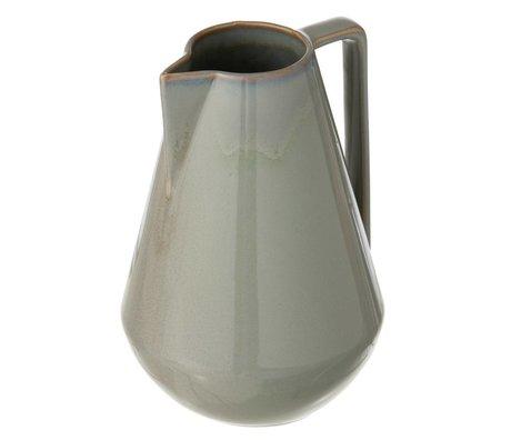 Ferm Living Krug Neu aus glasiertem Stein, grau, Ø15x22cm