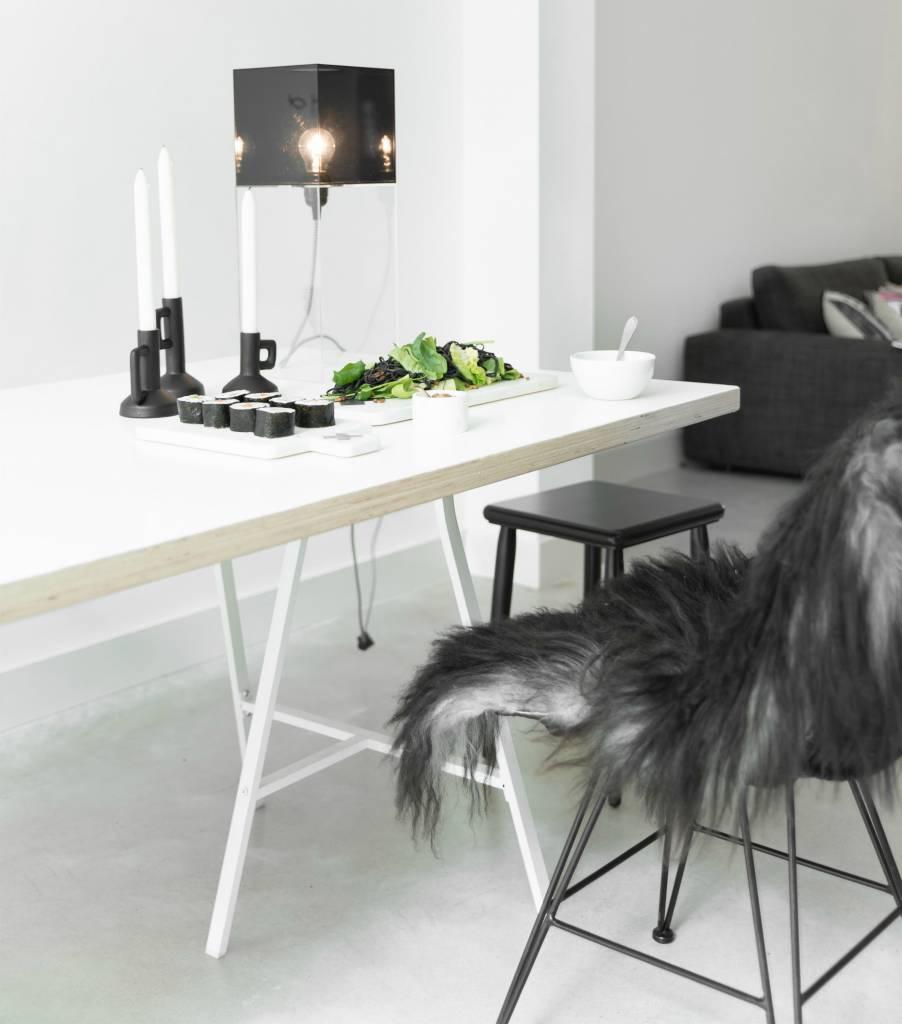 Hk Living Lampada Da Tavolo In Plexiglass Rosa Grande H48cm Lefliving Com