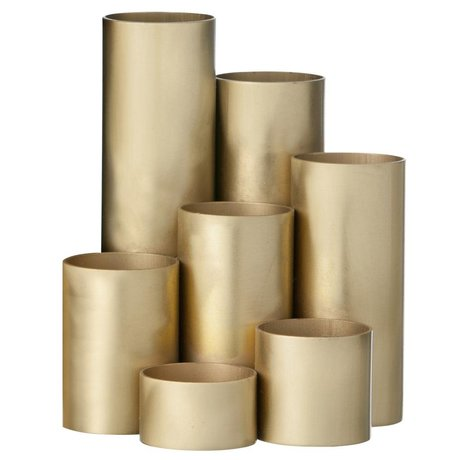 Ferm Living Stifthalter Brass, gold, 15x13cm
