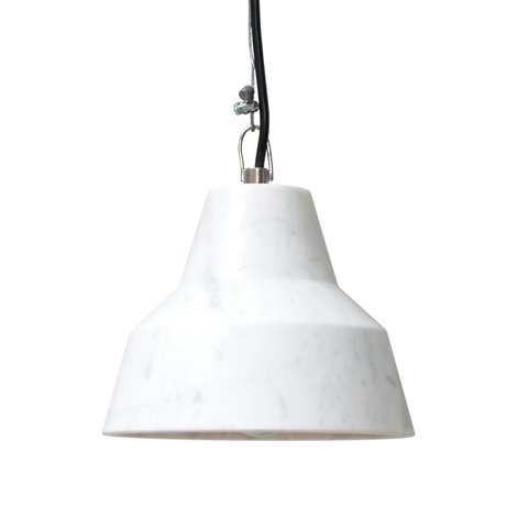 HK-living Hanging lamp made of marble, 18x18x14cm