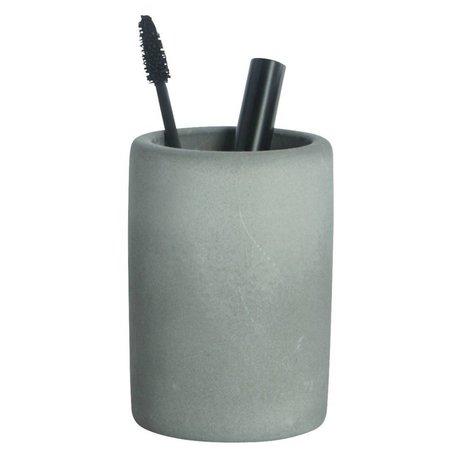 Housedoctor Cepillo de dientes titular de cemento, gris, Ø7,6x11,3cm