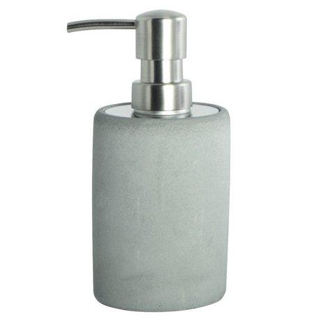 Housedoctor Dispenser di sapone fatta di cemento, grigio, Ø7,6x17,1cm