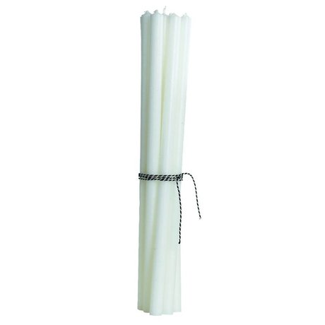 Housedoctor Pencil Candles (set of 12), white, H30cm