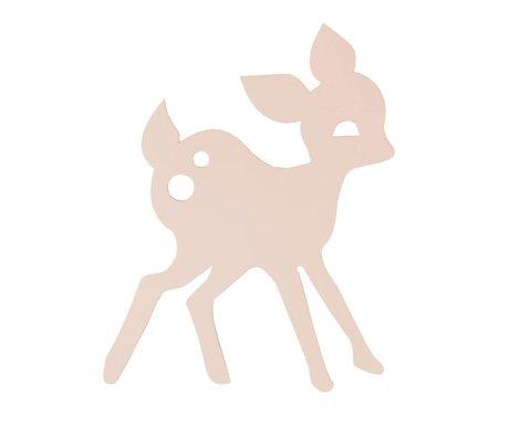 Ferm Living Væglampe Min Deer træ, pink, 27x38,5cm