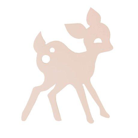 Ferm Living Mi lámpara de pared de madera de los ciervos, rosa, 27x38,5cm