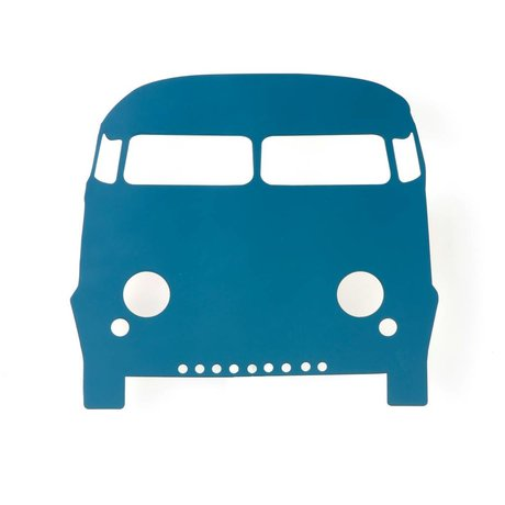 Ferm Living Wandlampe Car aus Holz, petrol, 27x22,5cm