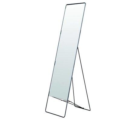 Housedoctor Spiegel stehend Chiq aus Metall, schwarz, 45x175cm
