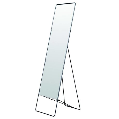 Housedoctor Mirror stående Chiq metal, sort, 45x175cm