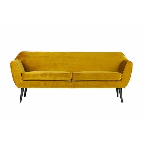 LEF collections Rocco sofa 187 cm samt ocker