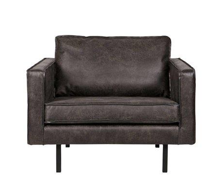 BePureHome Lænestol Rodeo sort læder 105x86x85cm