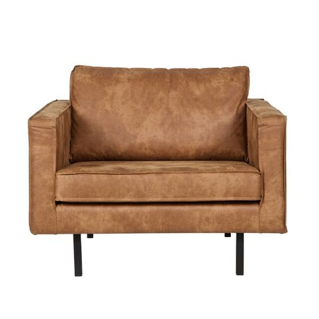 BePureHome Armchair Rodeo cognac leather 105x86x85cm