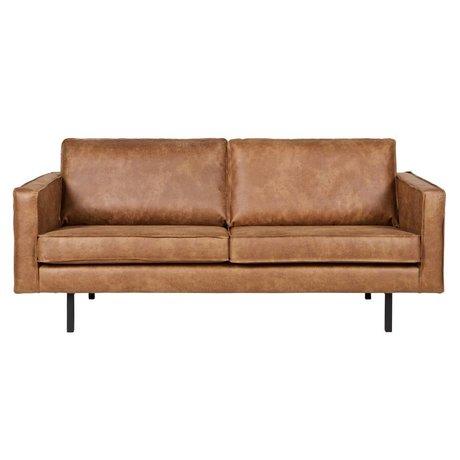 BePureHome Sofá Rodeo 2,5 asiento, 190x86x85cm cuero coñac