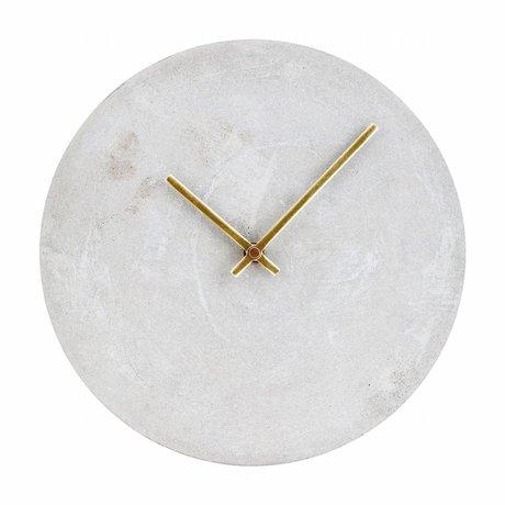 Housedoctor Reloj reloj gris hormigón Ø28cm