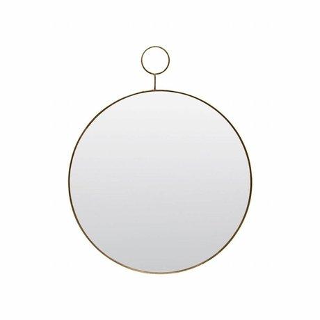 Housedoctor El espejo de bucle Ø38cm de metal de vidrio