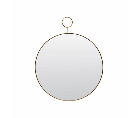 Housedoctor The loop mirror glass metal Ø32cm
