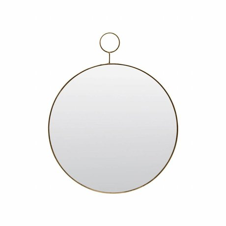 Housedoctor Le miroir de boucle Ø32cm de métal de verre