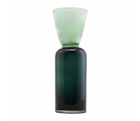 Housedoctor Waxinelichthouder entonnoir en verre Ø9x28cm sarcelle