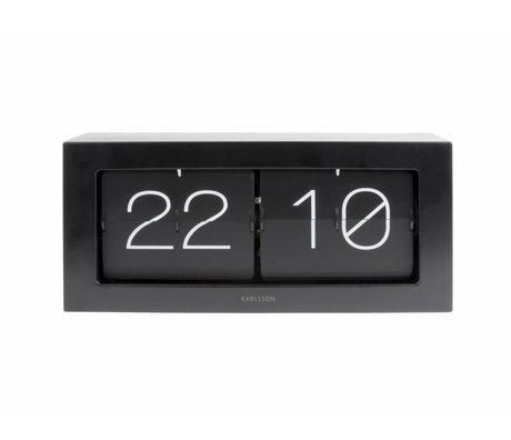 Karlsson Flip Clock Boxed 17,5x37cm acciaio nero