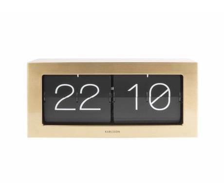 Karlsson Flip Clock 17,5x37cm oro acciaio Boxed