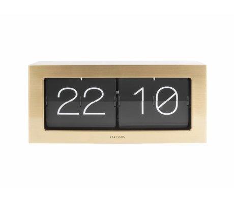 Karlsson Flip reloj de oro en caja de acero 17,5x37cm