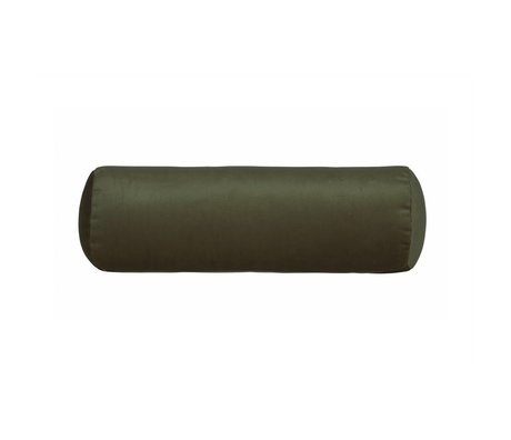BePureHome Side Sleeper Pillow Spool green velvet Velvet Ø20x61cm