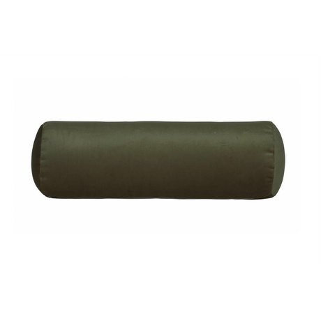 BePureHome bobine oreiller dormeur côté velours vert velours Ø20x61cm