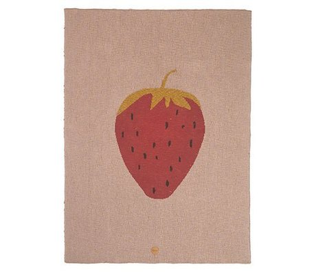 Ferm Living Soffitto Strawberry 80x100cm di cotone rosa
