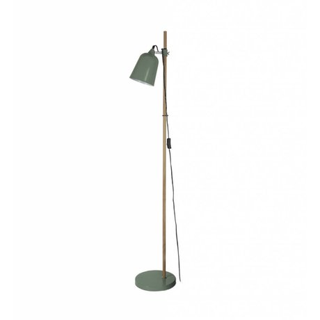 Leitmotiv Floor lamp wood-like green metal 15x14x149cm