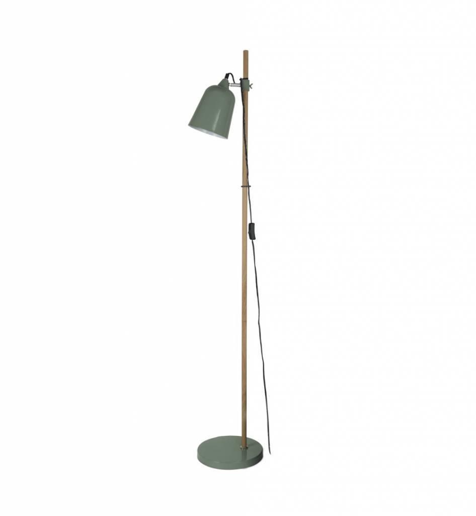 Lampade Da Terra In Legno.Leitmotiv Lampada Da Terra In Legno Come 15x14x149cm Metallo Verde