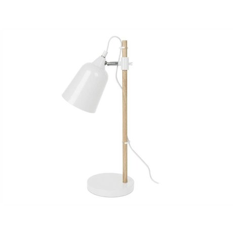 Leitmotiv Table Lamp Wood-Like white metal 12x14x48,5cm